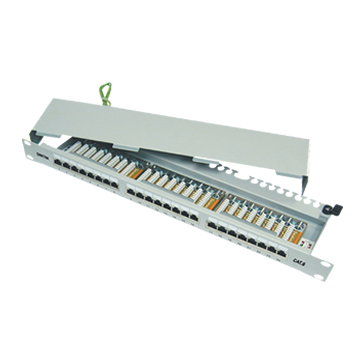 CAT6 24p shielded patch panel
